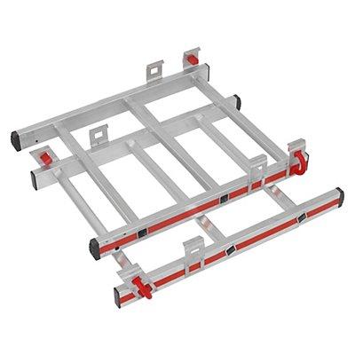 HYMER Erweiterungssatz zur Höhenverstellung - für Alu-Plattformleiter - 4 Sprossen