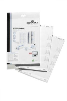 Durable BADGEMAKER Einsteckschilderbögen - für HxB 40 x 75 mm, VE 1200 Stk