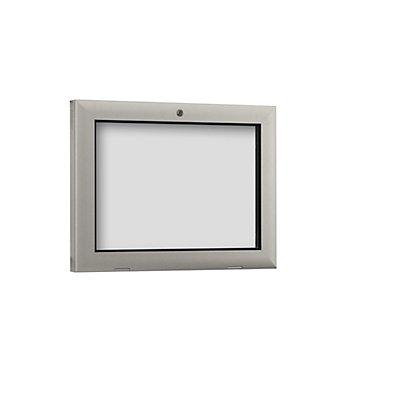 Schaar-Design Schaukasten für Innen- und Außenbereich - Türöffnung um 180° nach unten
