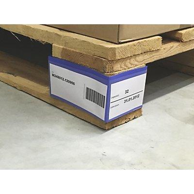 Palettenfußbanderole, VE 100 Stk, mit aufgesetzten Taschen, HxTxB 100 x 75 x 145 mm
