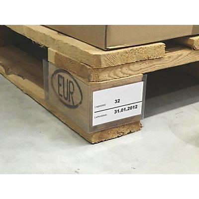 Palettenfußklammer, mit aufgesetzter Tasche, VE 100 Stk