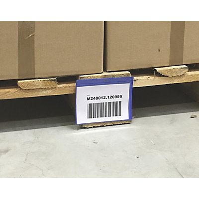 Palettenfußtaschen, VE 100 Stk, Öffnung an der Längsseite, BxH 145 x 115 mm