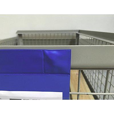 Neodym-Magnettaschen, VE 50 Stk, Öffnung an der Schmalseite, DIN A4 hochkant