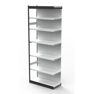 Kerkmann Büro-Regalsystem, mit Rückwand - Regalhöhe 2600 mm