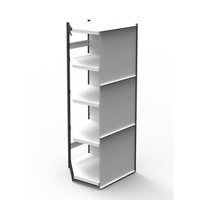 Kerkmann Büro-Regalsystem, mit Rückwand - Regalhöhe 1900 mm, Breite x Tiefe 750 x 500 mm