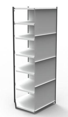 Büro-Regalsystem, mit Rückwand - Regalhöhe 2600 mm