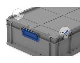 Scharnierverschluss-Set - 2 Schiebeschnapp- und 2 Scharnierverschlüsse, blau