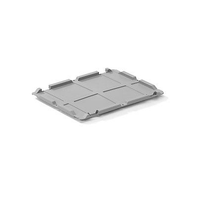 allit Scharnierdeckel - für Euronormbehälter, LxB 400 x 300 mm, VE 2 Stk