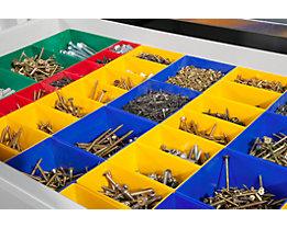 Schubladeneinteilungs-Set - Kunststoffkästen - für Schranktiefe 400 mm