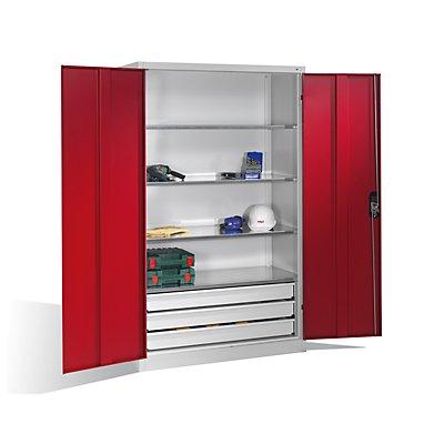 CP Großraumschrank - 4 Fachböden, 3 Schubladen