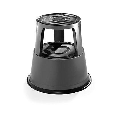 Rollhocker aus stabilem Stahlblech - Höhe belastet 420 mm, drei Gleitrollen