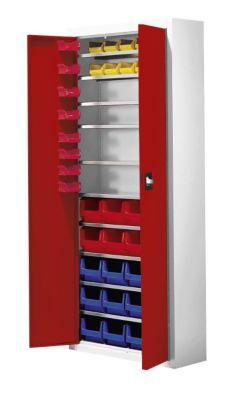 mauser Magazinschrank mit Sichtlagerkästen - HxBxT 1740 x 680 x 280 mm, zweifarbig
