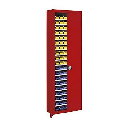 mauser Magazinschrank, einfarbig - HxBxT 2150 x 680 x 280 mm, mit Sichtlagerkästen