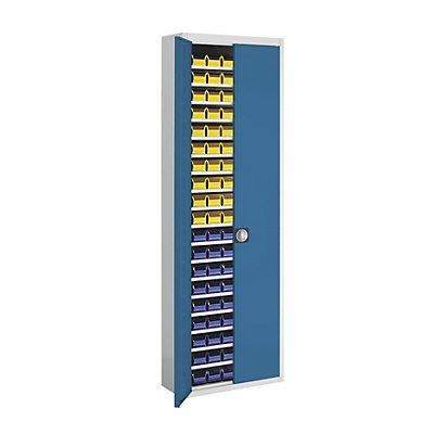 mauser Magazinschrank, zweifarbig - HxBxT 2150 x 680 x 280 mm, mit Sichtlagerkästen