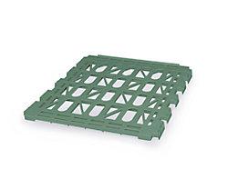 E.S.B. Zwischenboden für Rollbehälter, 3-seitig, verkehrsgrün, Breite 710 mm