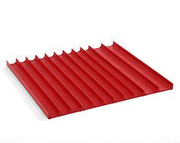 Kunststoffmulden-Set - für Schubladenhöhe 50 mm - für Schrankbreite x -tiefe 717 x 725 mm