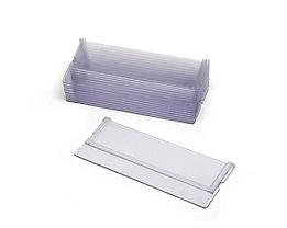 Séparation transversale transparente - lot de 10 - pour tiroirs h x l 70 x 170 mm