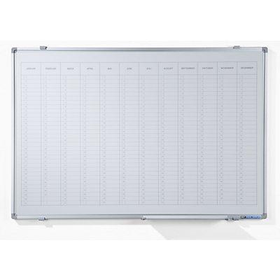Smit Visual Jahresplaner - mit senkrechter Monatseinteilung, Version DE, BxH 900 x 600 mm