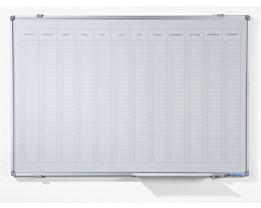 Jahresplaner - mit senkrechter Monatseinteilung, Version EN