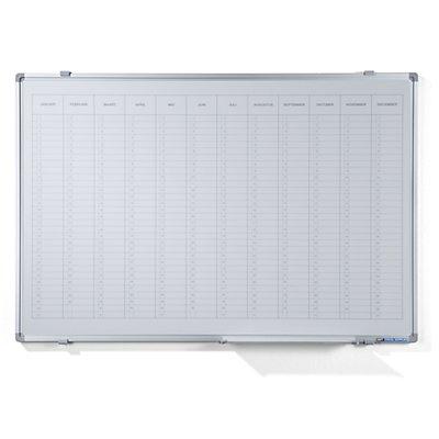 Smit Visual Jahresplaner - mit senkrechter Monatseinteilung, Version NL, BxH 900 x 600 mm