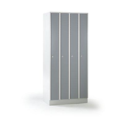 wolf raumspar schrank 4 abteile schrankbreite 800 mm silbergrau ral 7001. Black Bedroom Furniture Sets. Home Design Ideas