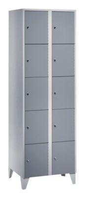 Wolf Stahlspind - mit Stollenfüßen, 10 Fächer, 300 mm, lichtgrau / silbergrau