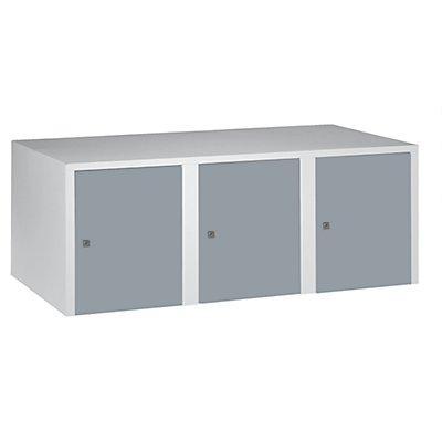 Wolf Aufsatzschrank - 3 Abteile, HxBxT 445 x 1200 x 500 mm