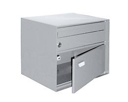 Briefkasten, BxHxT 390 x 315 x 310 mm - Stahlblech, pulverbeschichtet, weiß
