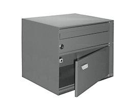 Briefkasten, BxHxT 390 x 315 x 310 mm - Stahlblech, pulverbeschichtet, grau
