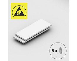 Tablette supplémentaire - pour rayonnage emboîtable antistatique, lot de 2 - largeur tablette 1000 mm, profondeur tablette 400 mm