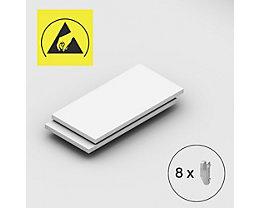 Tablette supplémentaire - pour rayonnage emboîtable antistatique, lot de 2 - largeur tablette 1000 mm, profondeur tablette 500 mm