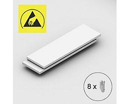 Tablette supplémentaire - pour rayonnage emboîtable antistatique, lot de 2 - largeur tablette 1300 mm, profondeur tablette 400 mm