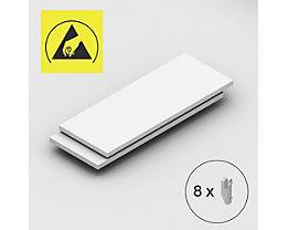 Tablette supplémentaire - pour rayonnage emboîtable antistatique, lot de 2 - largeur tablette 1300 mm, profondeur tablette 500 mm