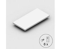 Stahlfachboden, Traglast 125 kg - lichtgrau - BxT 1000 x 500 mm
