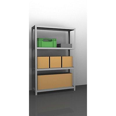 hofe Lager-Schraubregal, verzinkt, mittelschwer - Regalhöhe 1500 mm, Bodenbreite 1000 mm