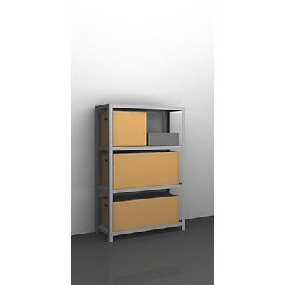 hofe Schwerlast-Schraubregal, verzinkt - Regalhöhe 1500 mm
