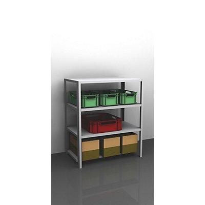 hofe Schraubregal, Bauart leicht, verzinkt - Regalhöhe 1500 mm, Bodenbreite 1300 mm