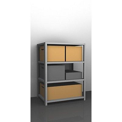 hofe Schwerlast-Schraubregal, verzinkt - Regalhöhe 1500 mm - Grundregal, Breite x Tiefe 1000 x 400 mm