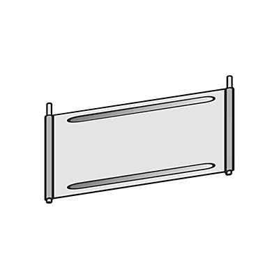 Séparateur métallique pour rayonnage à casiers - galvanisé