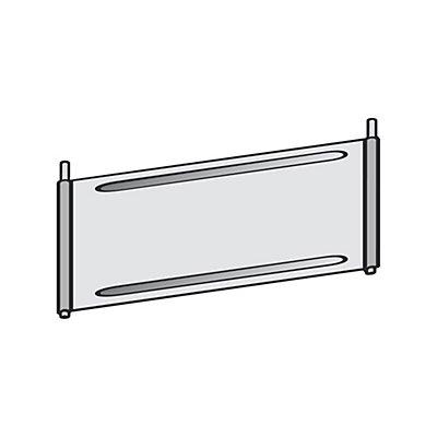 Trennblech für Fächer-Regal - verzinkt