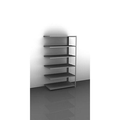 hofe Leicht-Lagerschraubregal, verzinkt - Regalhöhe 1850 mm, doppelseitig