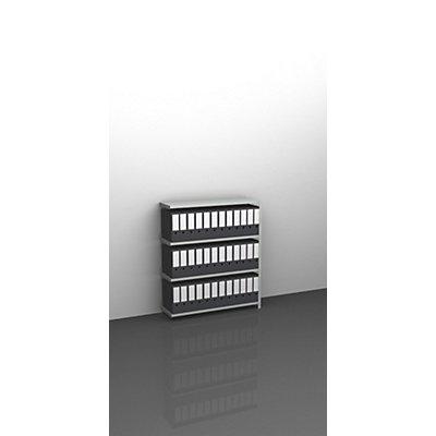 Akten-Schraubregal, lichtgrau RAL 7035 - Regalhöhe 1150 mm
