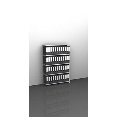 Akten-Schraubregal, lichtgrau RAL 7035 - Regalhöhe 1500 mm
