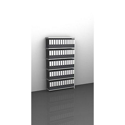Akten-Schraubregal, lichtgrau RAL 7035 - Regalhöhe 1850 mm