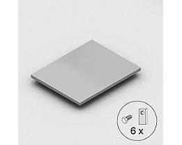 Stahlfachboden, Traglast 125 kg - verzinkt - BxT 1000 x 800 mm