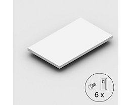 Stahlfachboden, Traglast 125 kg - lichtgrau - BxT 1000 x 800 mm