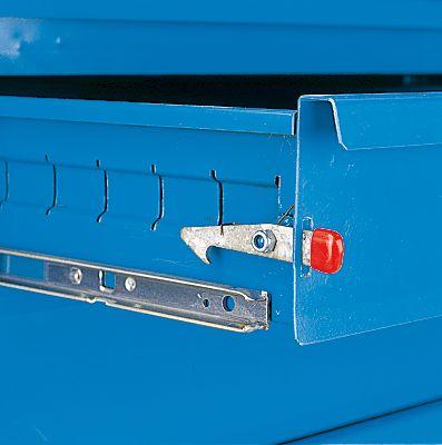 EUROKRAFT Montagewagen - 4 Schubladen - MDF-Arbeitsplatte