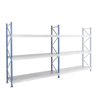 ManOrga Schwerlast-Großfachregal - mit Stahlauflagen-Modulen