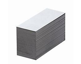 Magnet-Lagerschilder - weiß - HxB 30 x 80 mm, VE 100 Stk