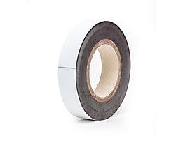 Magnet-Lagerschilder - weiß, Rollenware - Höhe 25 mm, Rollenlänge 10 m